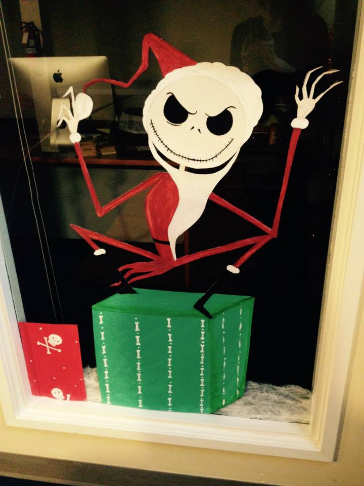 source why leave the windows decorate them as well with nightmare before christmas